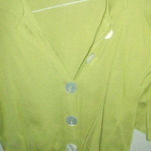 Tops - 4 FOR $40~Lime Green Vintage Cropped Short Slee